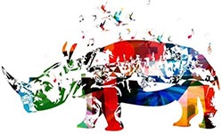 Adopt a Rhino Illustration
