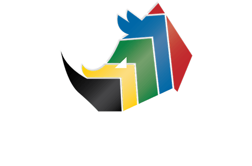 Endangered Rhino Conservation Stacked Logo